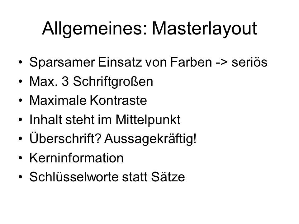 Allgemeines: Masterlayout
