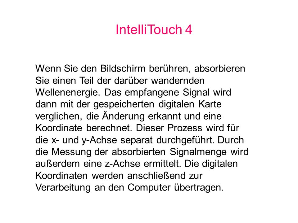 IntelliTouch 4