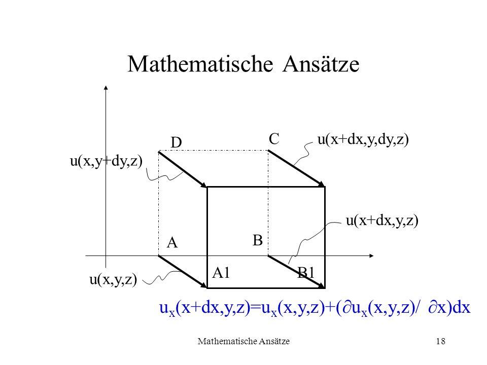 Mathematische Ansätze