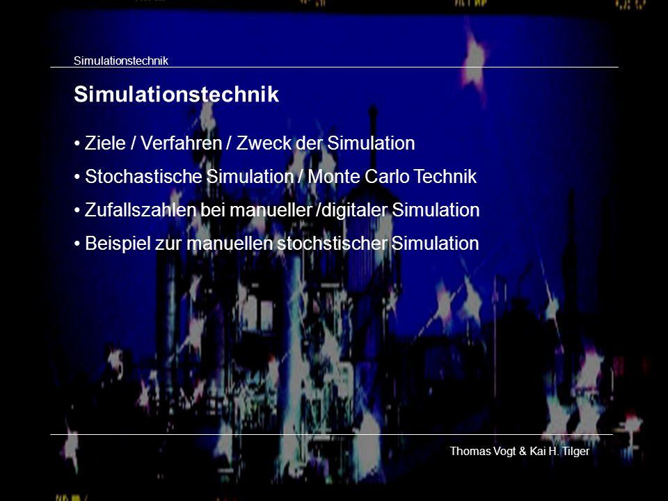Simulationstechnik Ziele / Verfahren / Zweck der Simulation