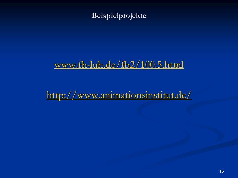 www.fh-luh.de/fb2/100.5.html http://www.animationsinstitut.de/