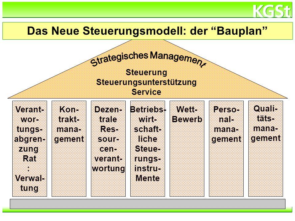 Das Neue Steuerungsmodell: der Bauplan Steuerungsunterstützung
