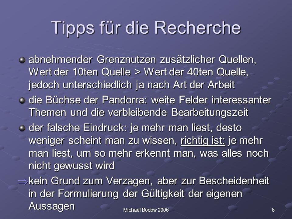 Tipps für die Recherche