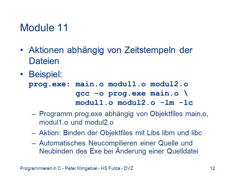 Module 11 Aktionen abhängig von Zeitstempeln der Dateien