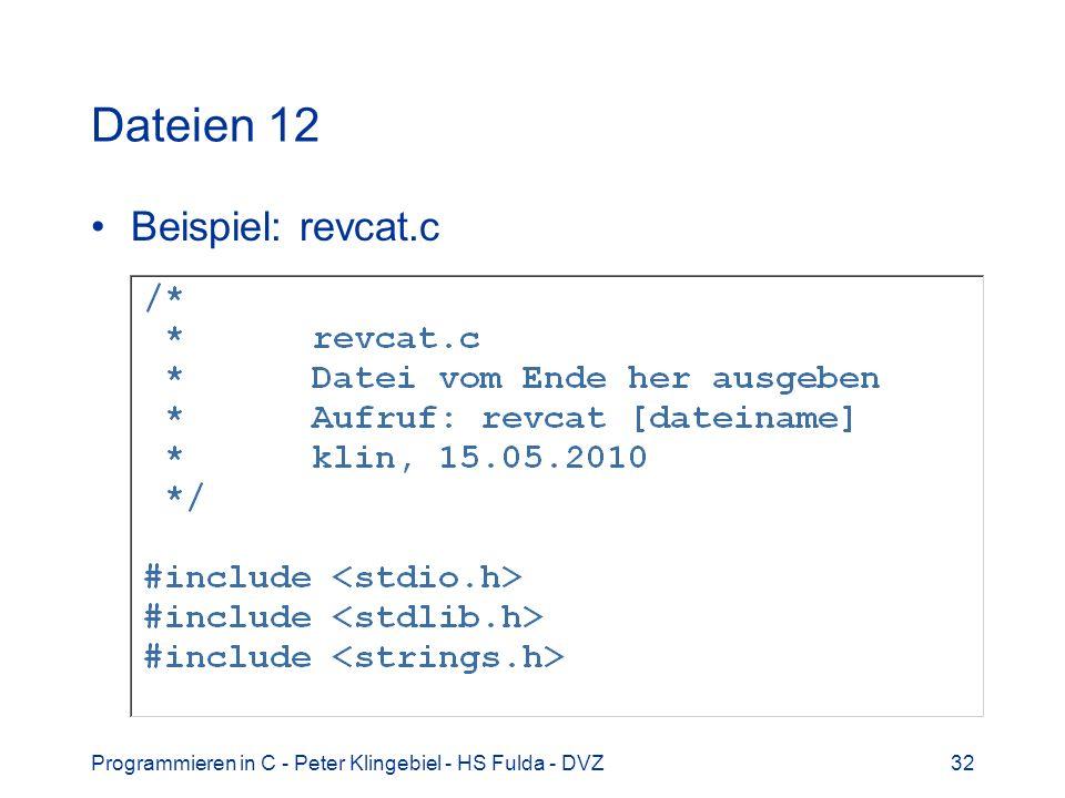 Dateien 12 Beispiel: revcat.c