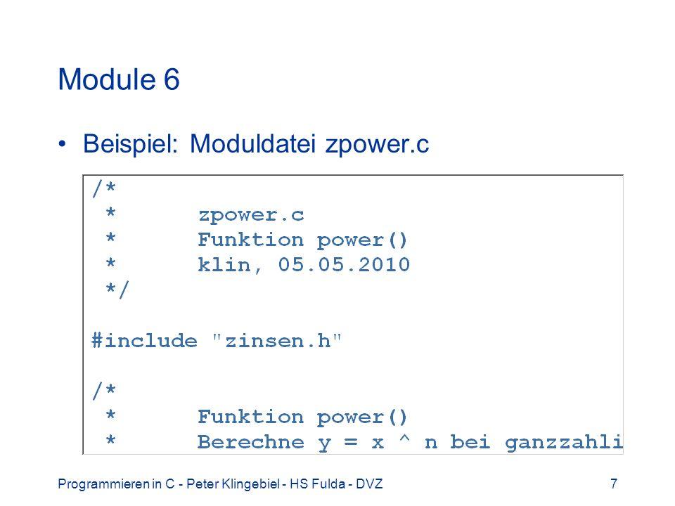 Module 6 Beispiel: Moduldatei zpower.c