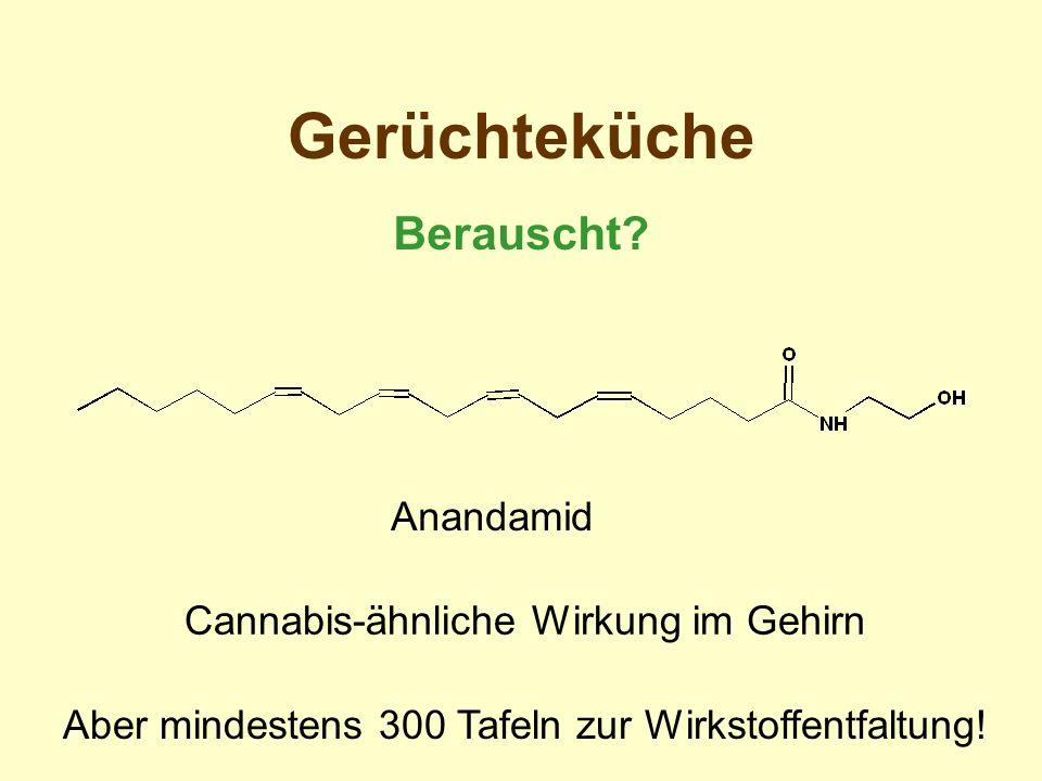 Gerüchteküche Berauscht Anandamid Cannabis-ähnliche Wirkung im Gehirn