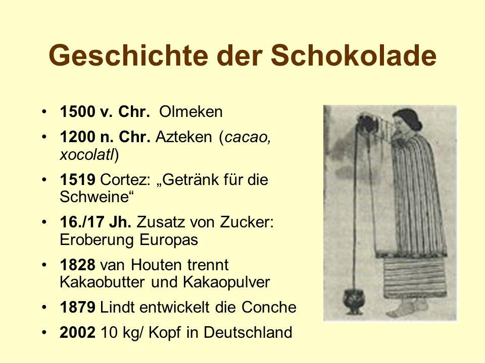 Geschichte der Schokolade