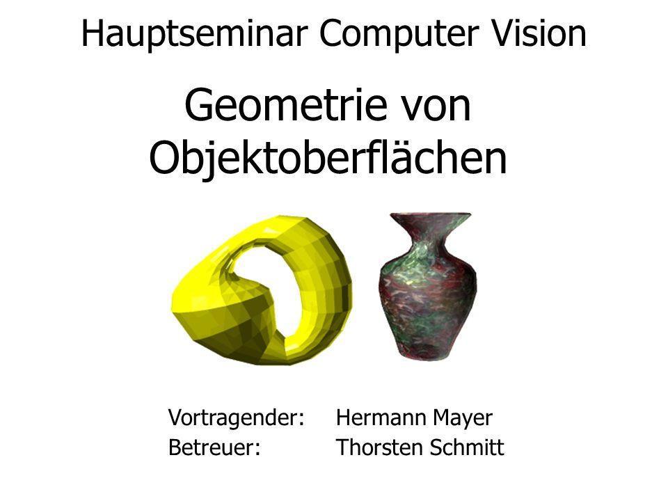 Geometrie von Objektoberflächen