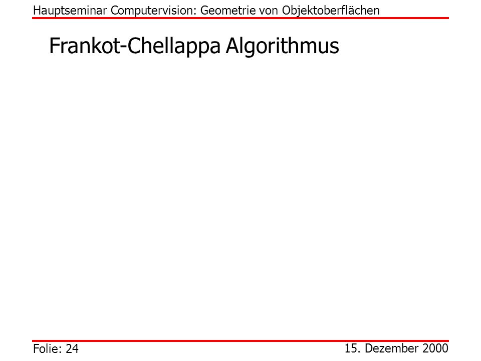 Frankot-Chellappa Algorithmus