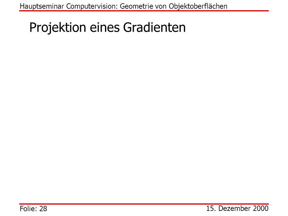 Projektion eines Gradienten