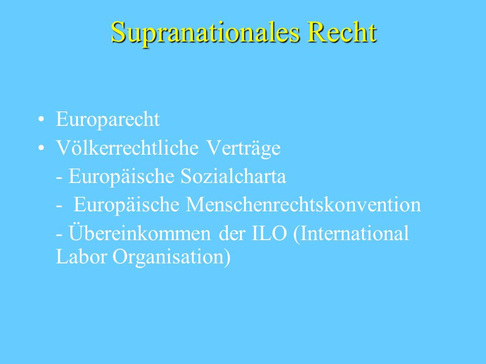 Supranationales Recht