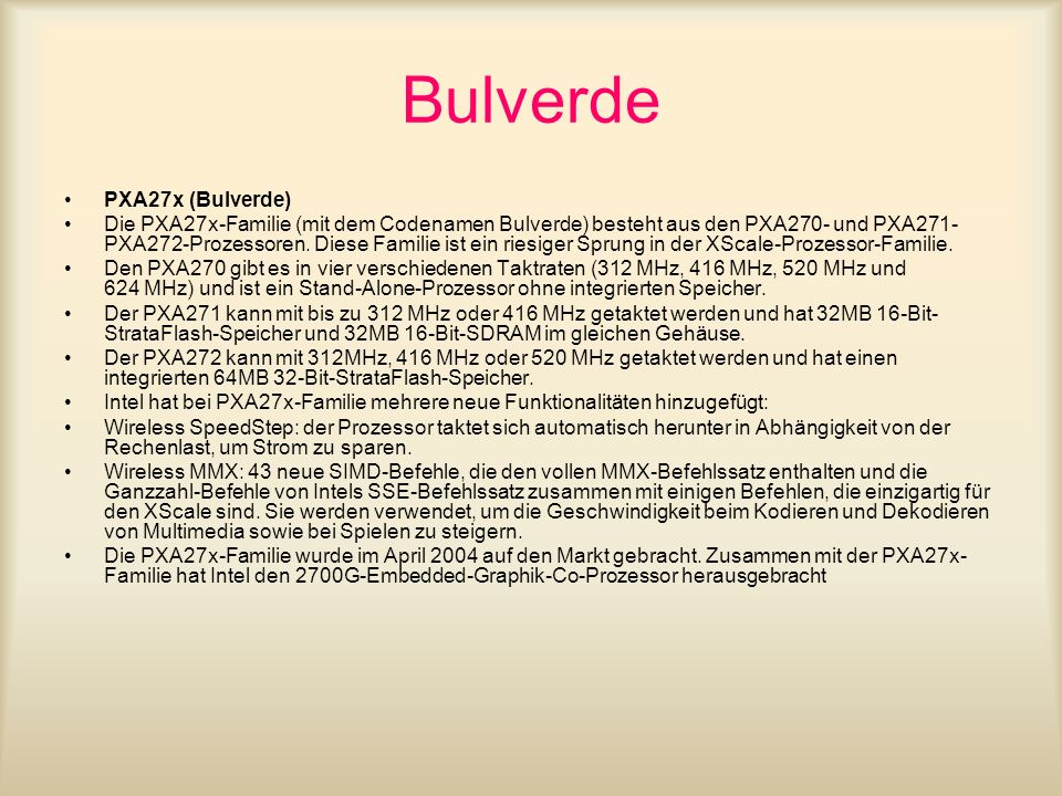 Bulverde PXA27x (Bulverde)