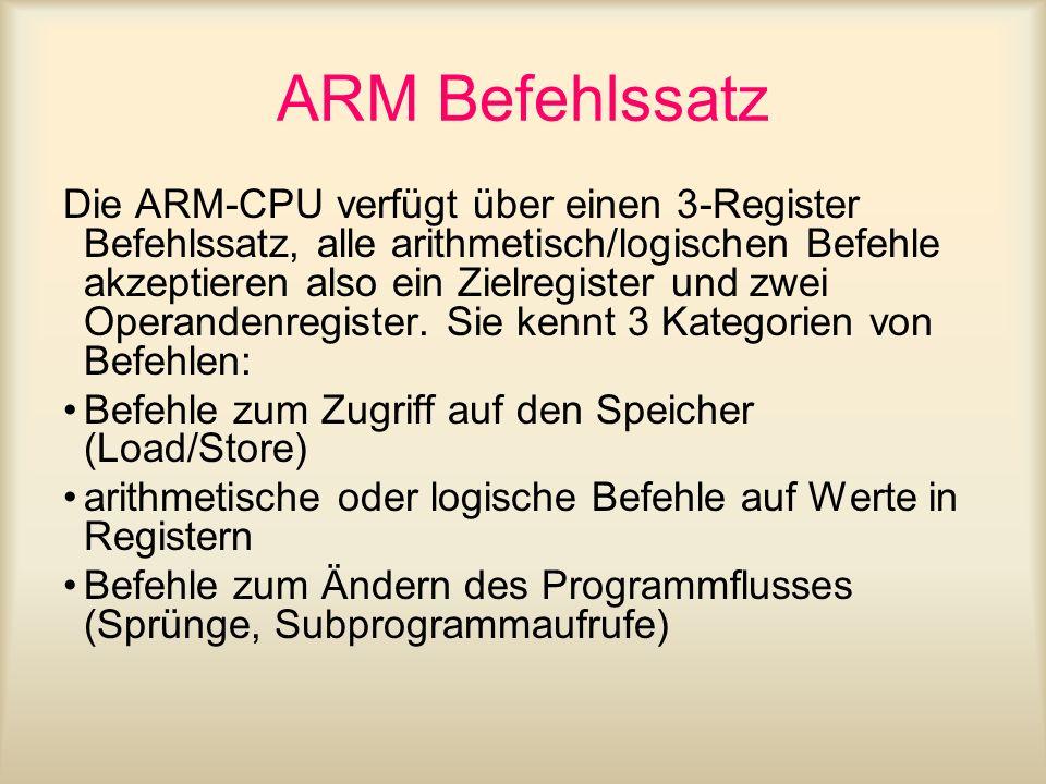 ARM Befehlssatz