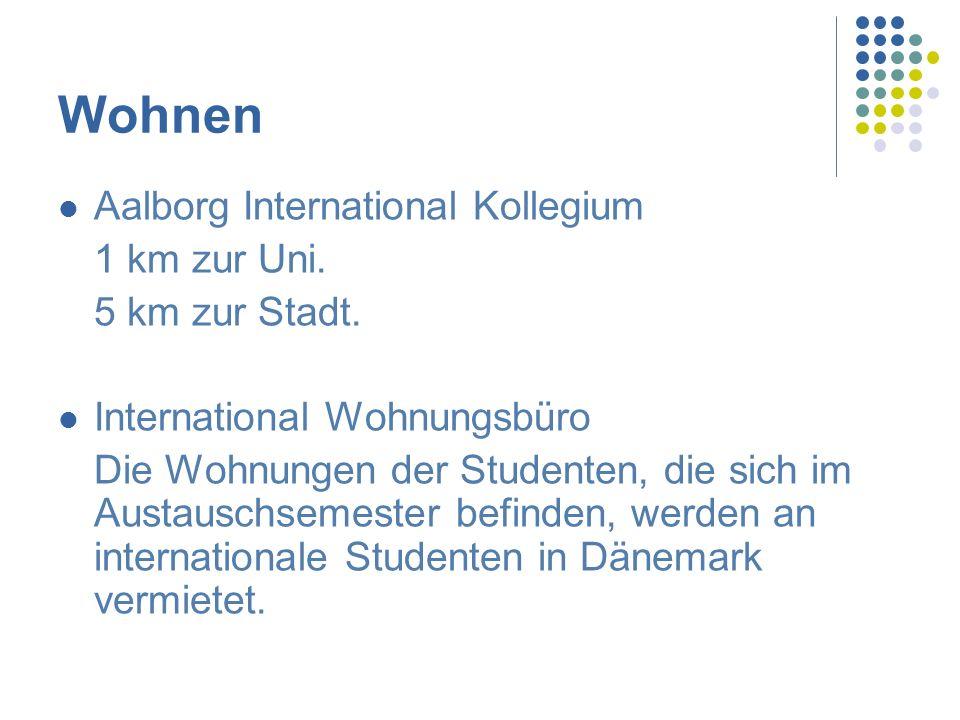 Wohnen Aalborg International Kollegium 1 km zur Uni. 5 km zur Stadt.