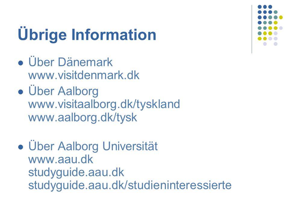 Übrige Information Über Dänemark www.visitdenmark.dk