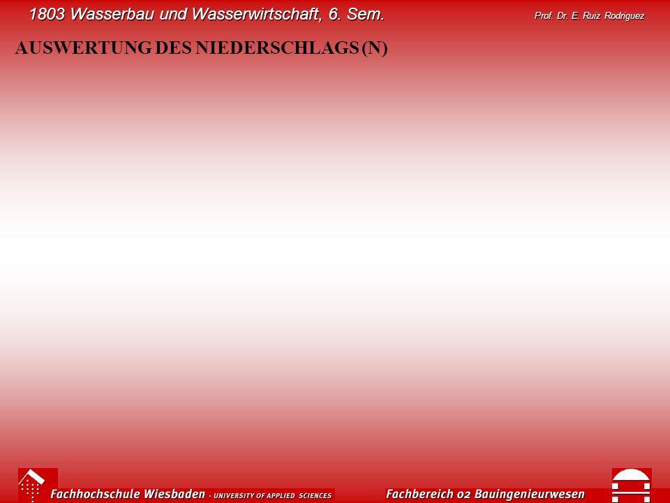 AUSWERTUNG DES NIEDERSCHLAGS (N)