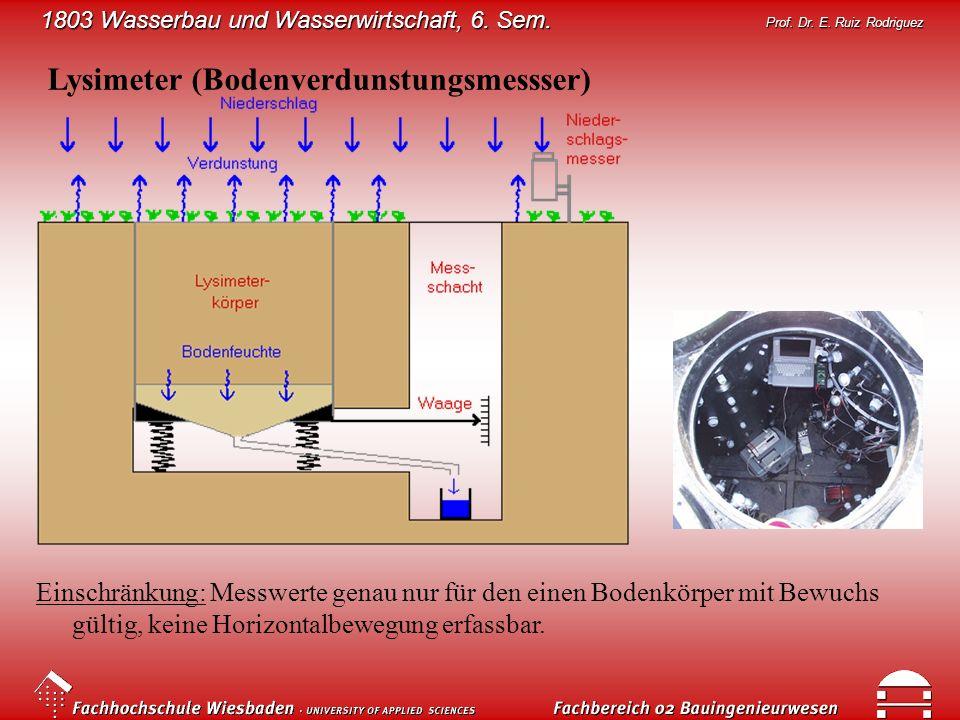 Lysimeter (Bodenverdunstungsmessser)