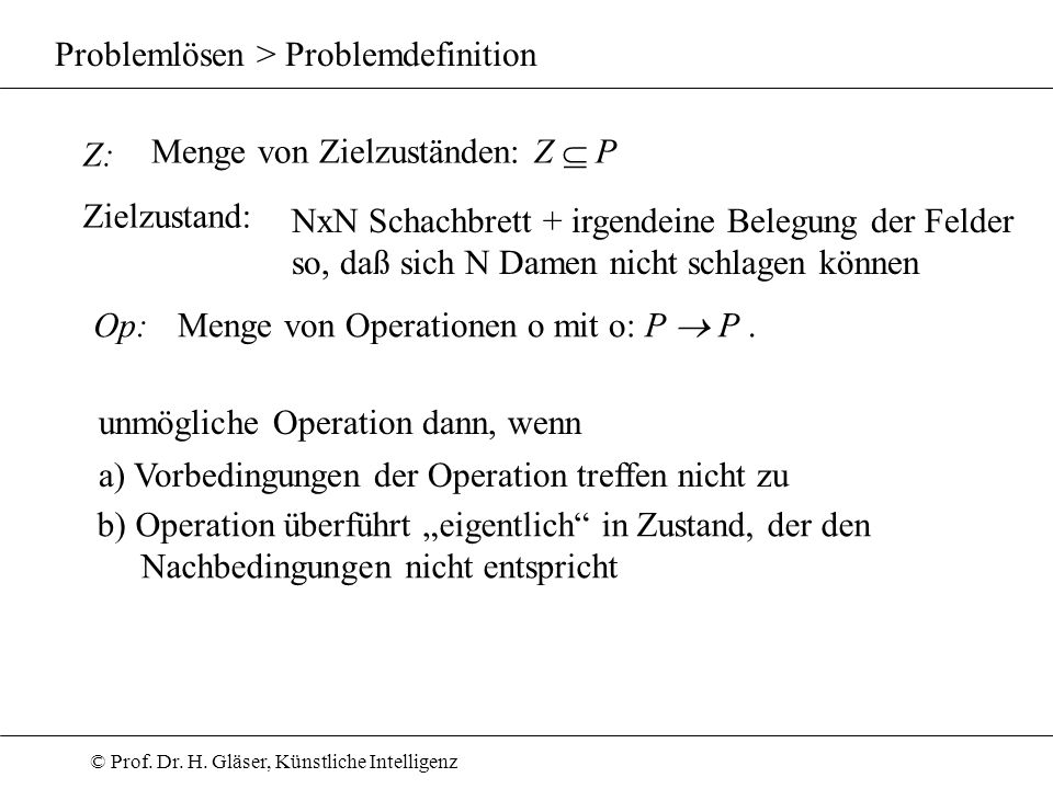 Problemlösen > Problemdefinition