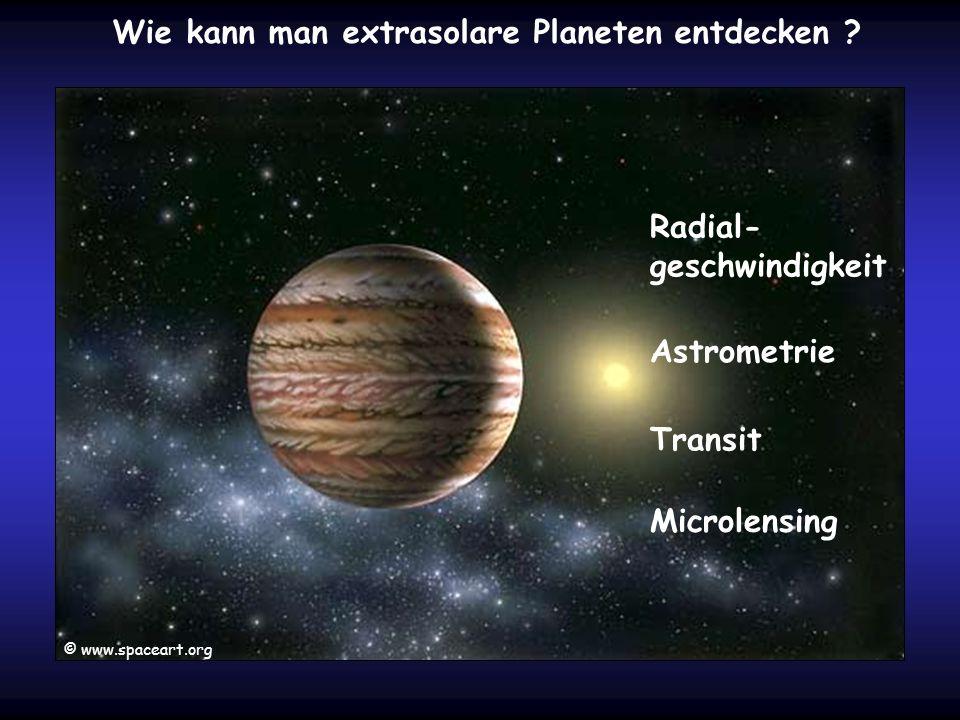 Wie kann man extrasolare Planeten entdecken