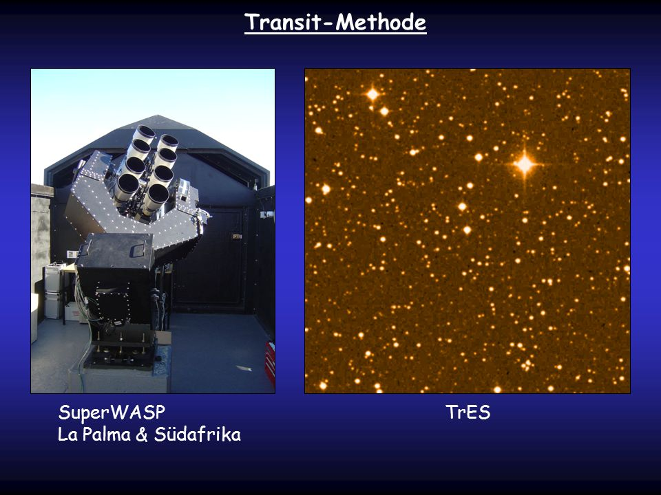 Transit-Methode SuperWASP La Palma & Südafrika TrES