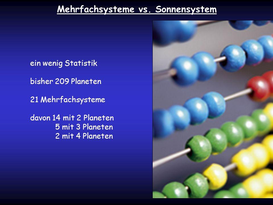 Mehrfachsysteme vs. Sonnensystem