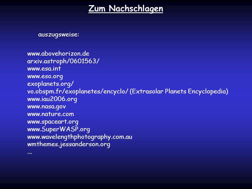 Zum Nachschlagen auszugsweise: www.abovehorizon.de