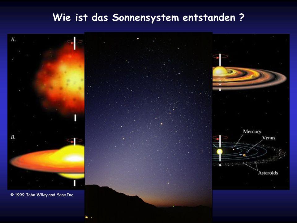 Wie ist das Sonnensystem entstanden