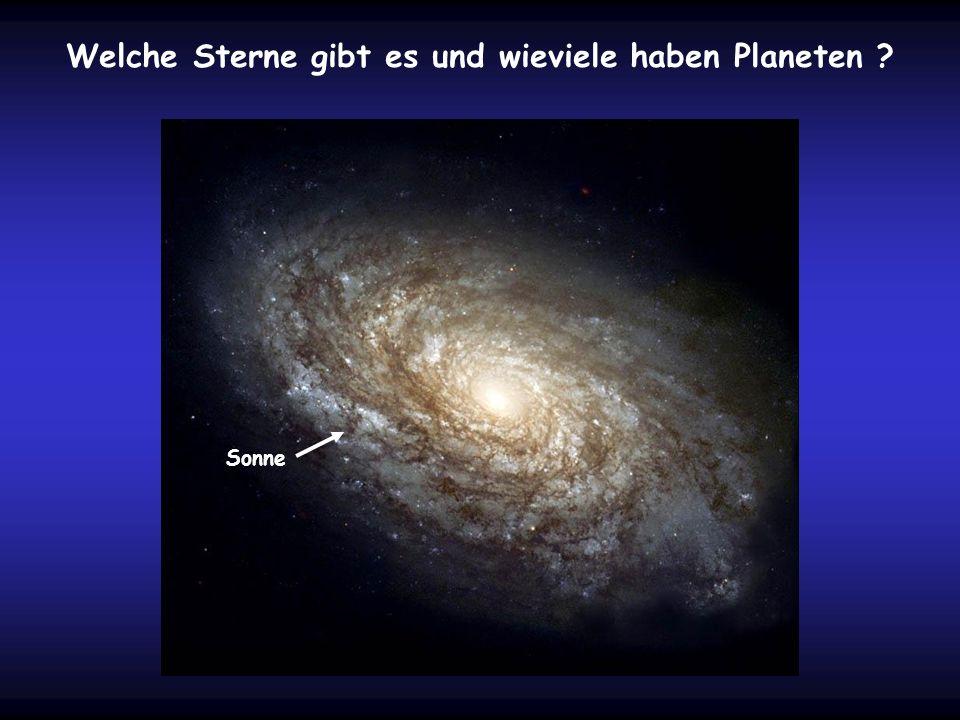 Welche Sterne gibt es und wieviele haben Planeten