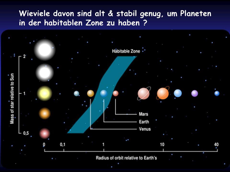 Wieviele davon sind alt & stabil genug, um Planeten