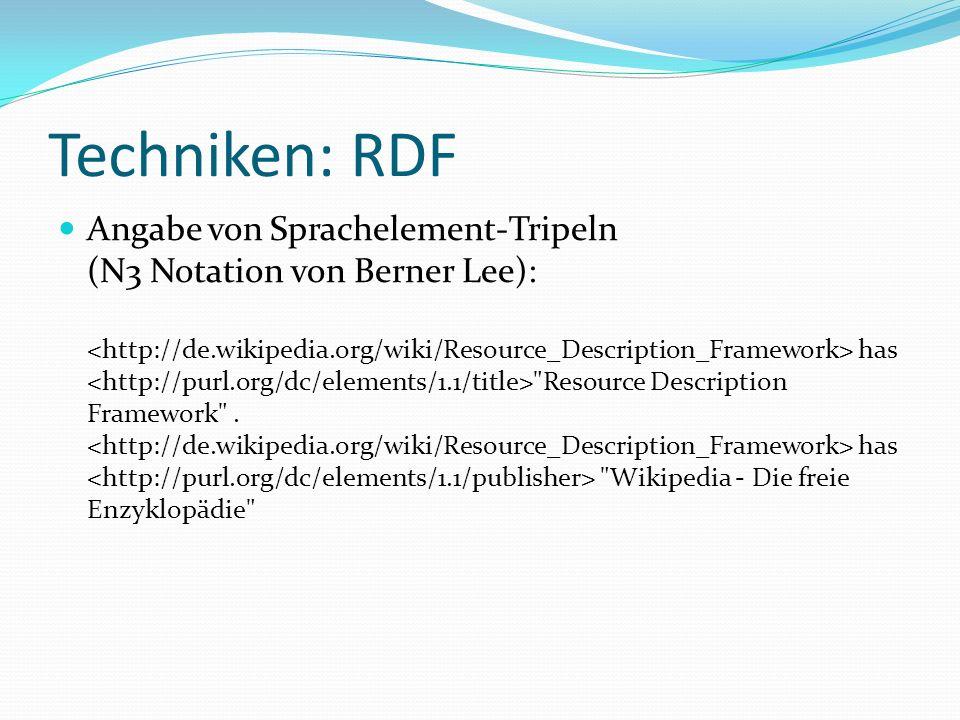 Techniken: RDF