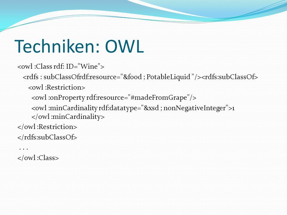 Techniken: OWL