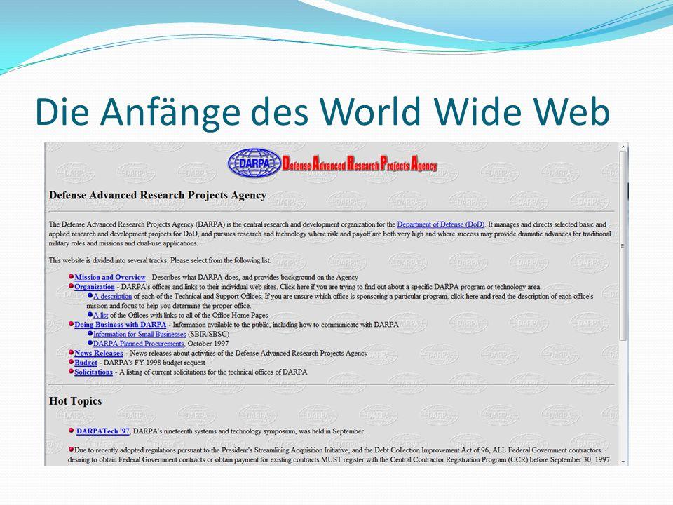 Die Anfänge des World Wide Web