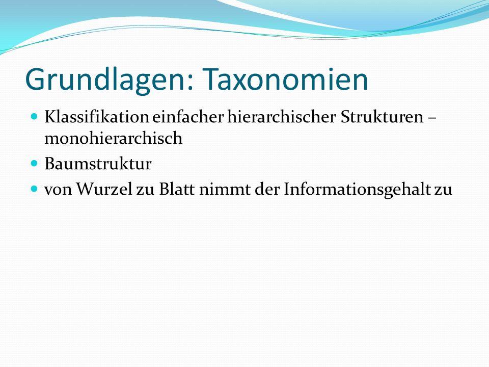Grundlagen: Taxonomien