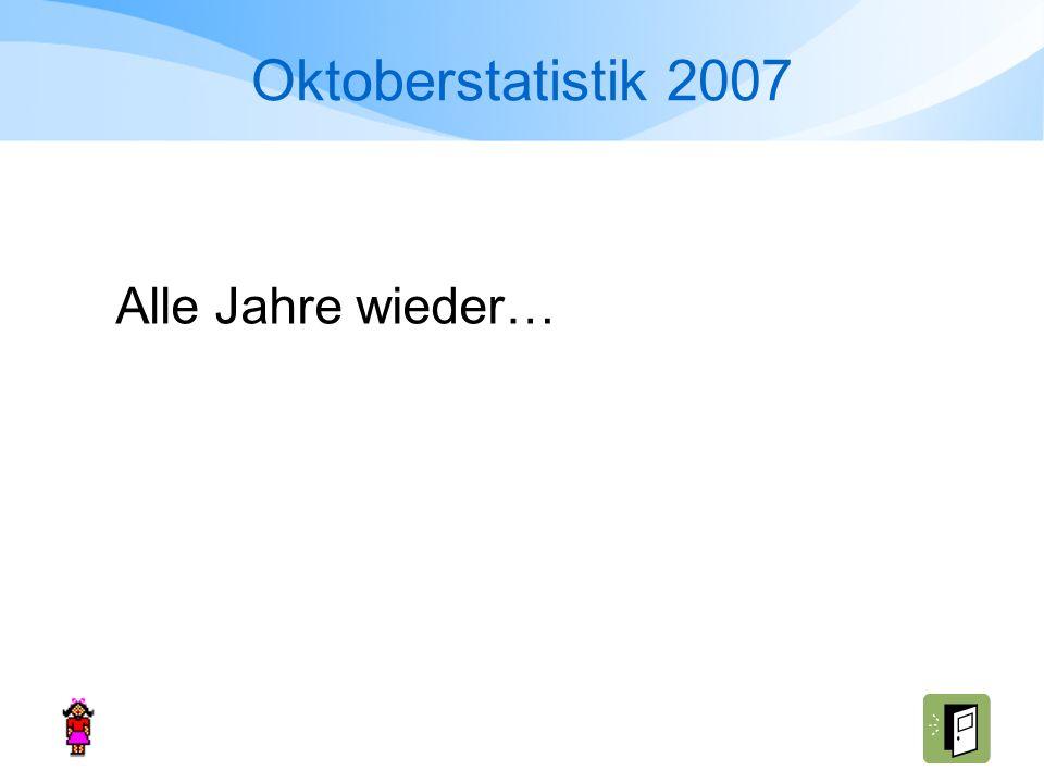 Oktoberstatistik 2007 Alle Jahre wieder…