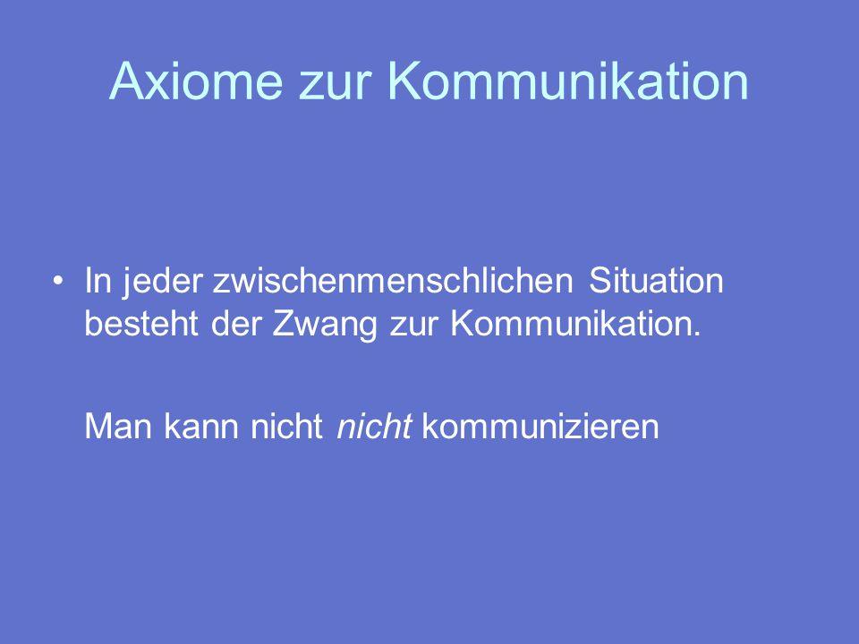 Axiome zur Kommunikation