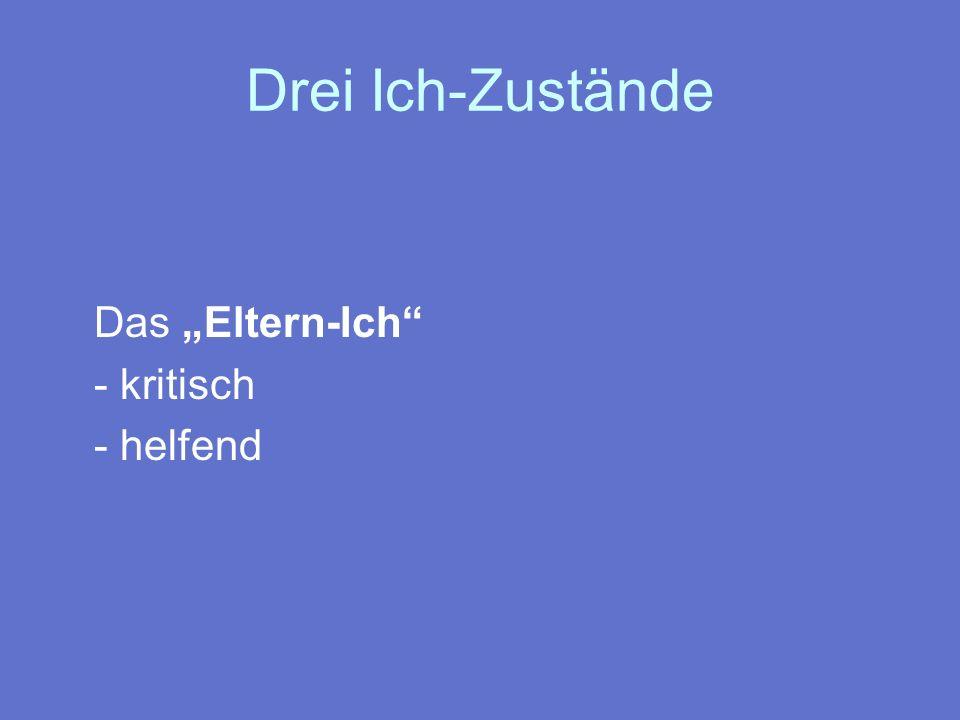 """Drei Ich-Zustände Das """"Eltern-Ich - kritisch - helfend"""