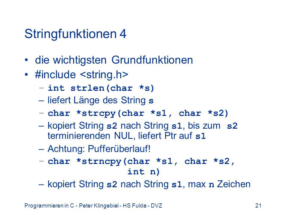 Stringfunktionen 4 die wichtigsten Grundfunktionen