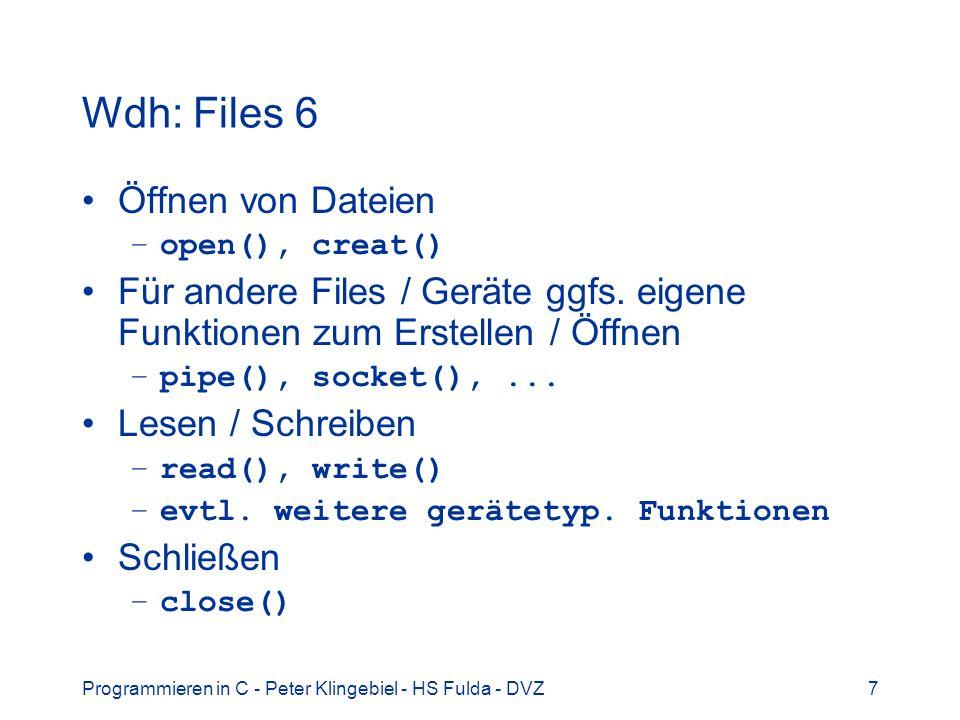 Wdh: Files 6 Öffnen von Dateien