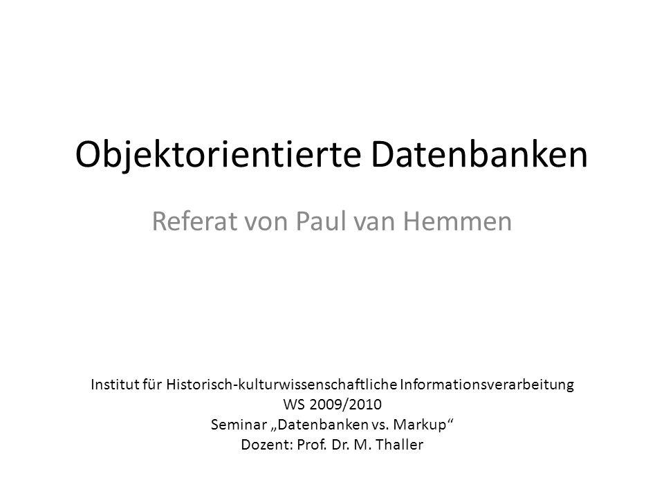 Objektorientierte Datenbanken
