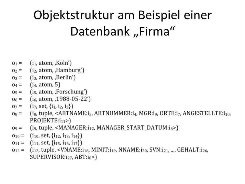 """Objektstruktur am Beispiel einer Datenbank """"Firma"""