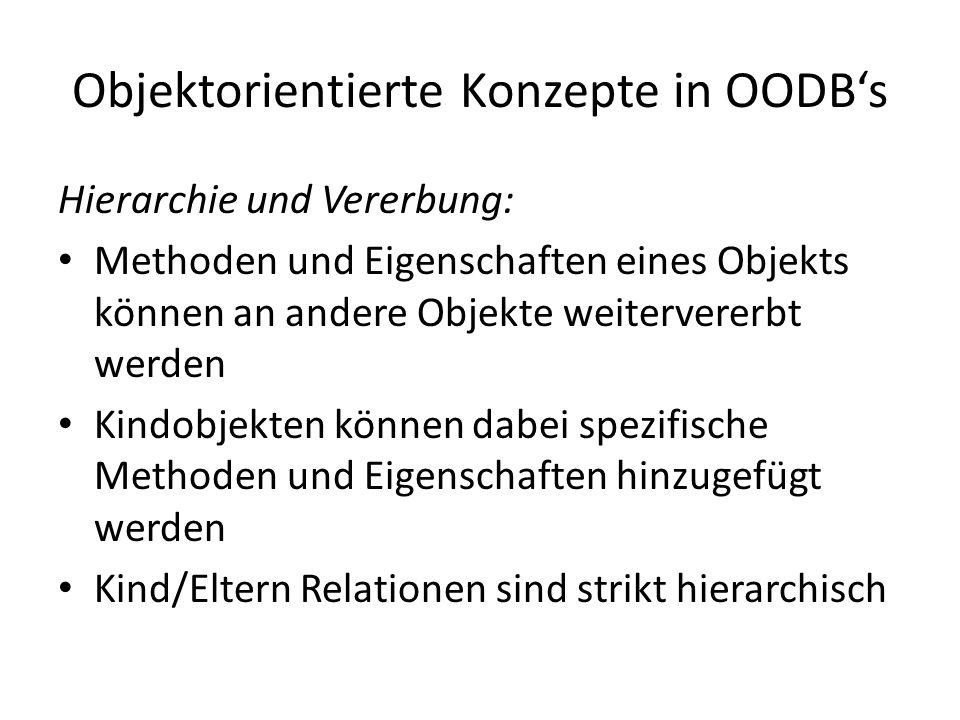 Objektorientierte Konzepte in OODB's