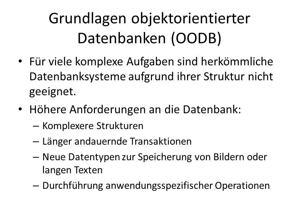 Grundlagen objektorientierter Datenbanken (OODB)