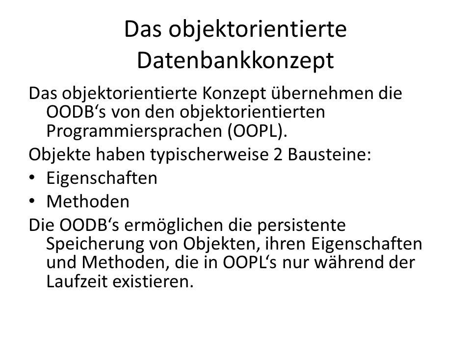 Das objektorientierte Datenbankkonzept