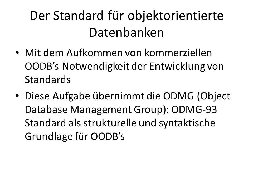 Der Standard für objektorientierte Datenbanken