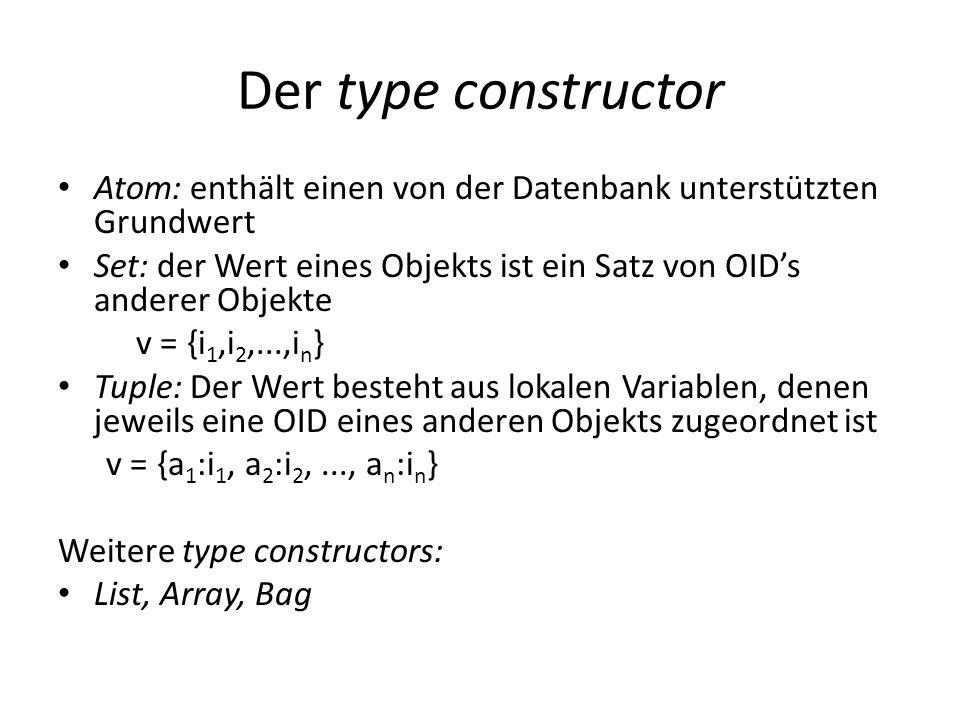 Der type constructorAtom: enthält einen von der Datenbank unterstützten Grundwert.