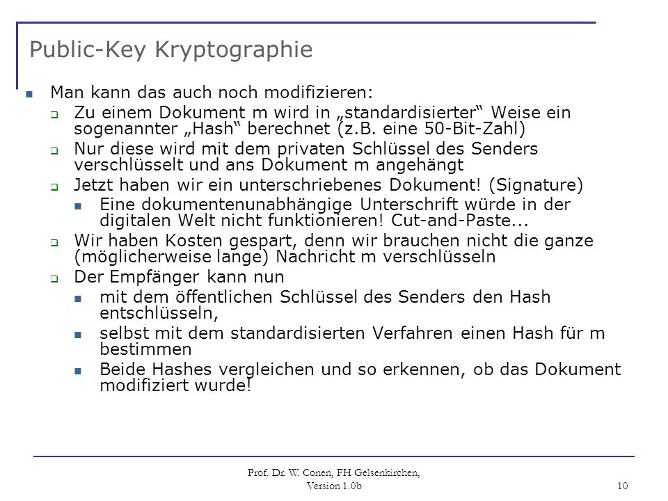Public-Key Kryptographie