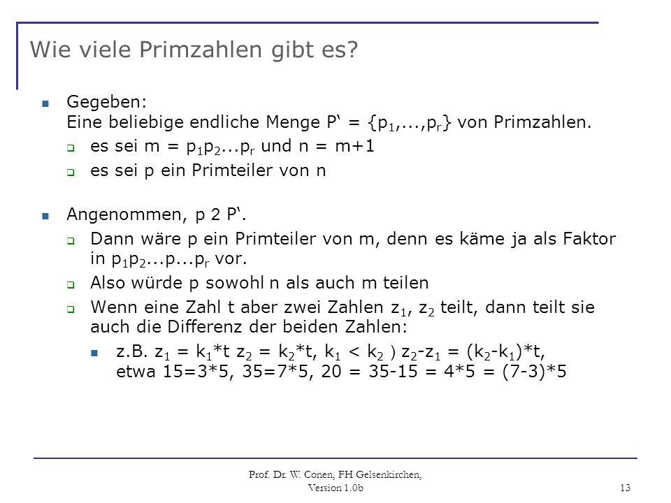 Wie viele Primzahlen gibt es