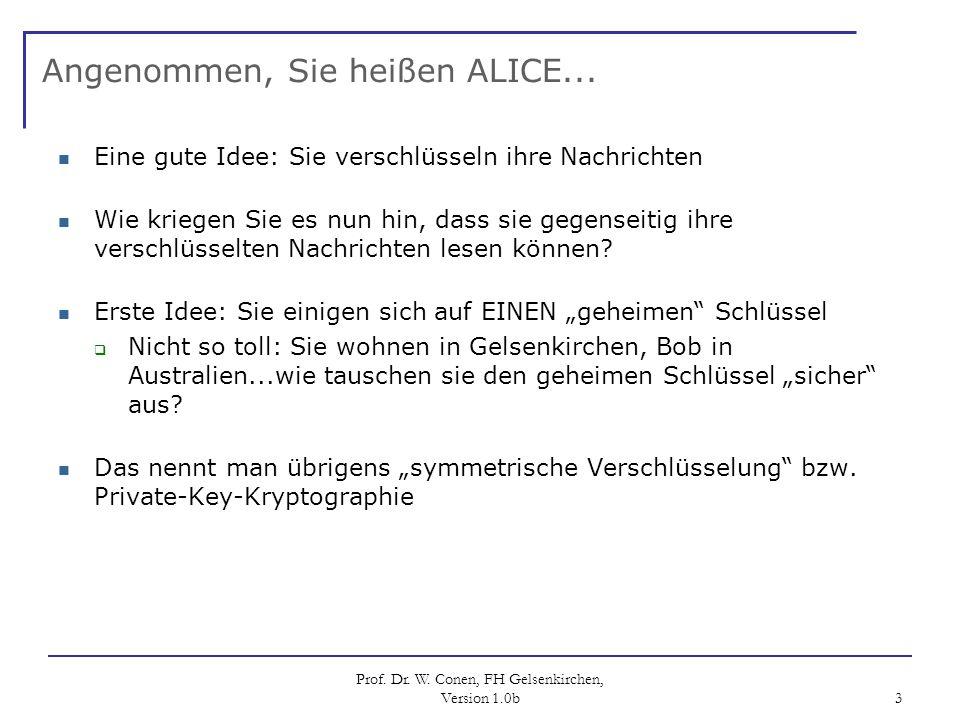 Angenommen, Sie heißen ALICE...