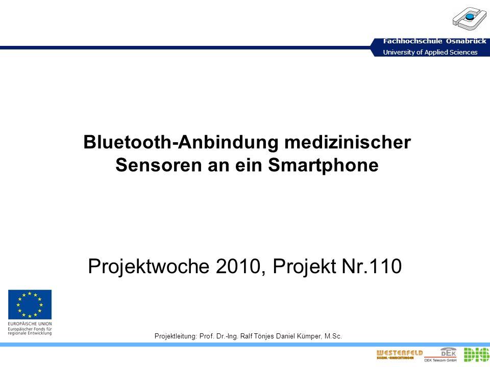 Bluetooth-Anbindung medizinischer Sensoren an ein Smartphone
